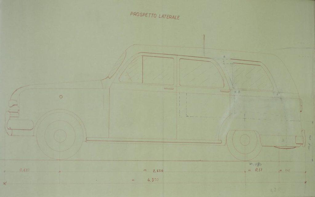 progetto del primo carro funebre