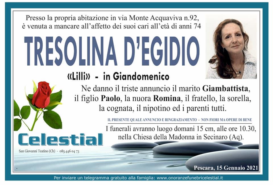 Tresolina D'Egidio